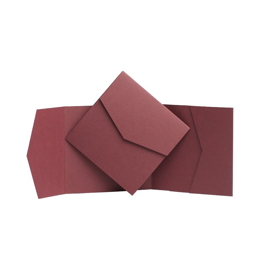 Original Burgundy Matte Pocketfold